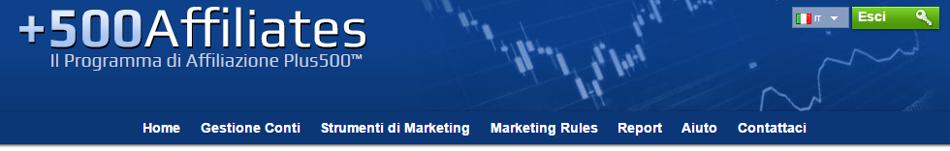 500Affiliates è il programma di affiliazione ufficiale della piattaforma di trading Plus500, la più grande rete di affiliazione finanziario del mondo