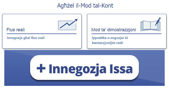 Negozjar onlajn u tal-ġurnata bi Plus500™ -